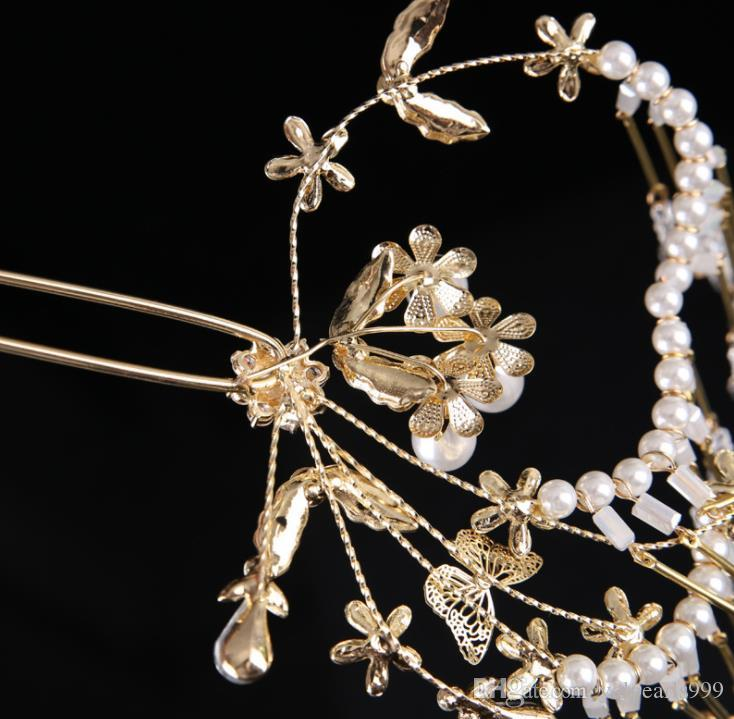 Chinese style wedding bride headdress costume fringed hair accessories hairpin