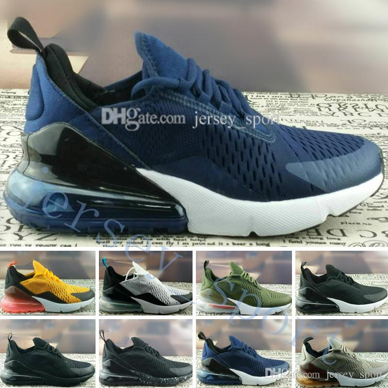 official photos 411e4 8026b 2018 Wholesale New 270 Tiger Cactus Triple Black Athletic Sports Sneakers  Women Trainers Outdoor Designer Running Shoes for Men Size 36-45 Online  with ...