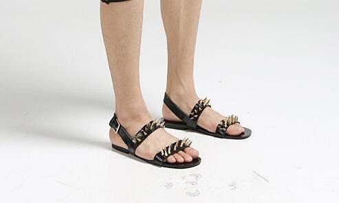Rabatt Schwarze Römische Schuhe   2019 Schwarze Römische