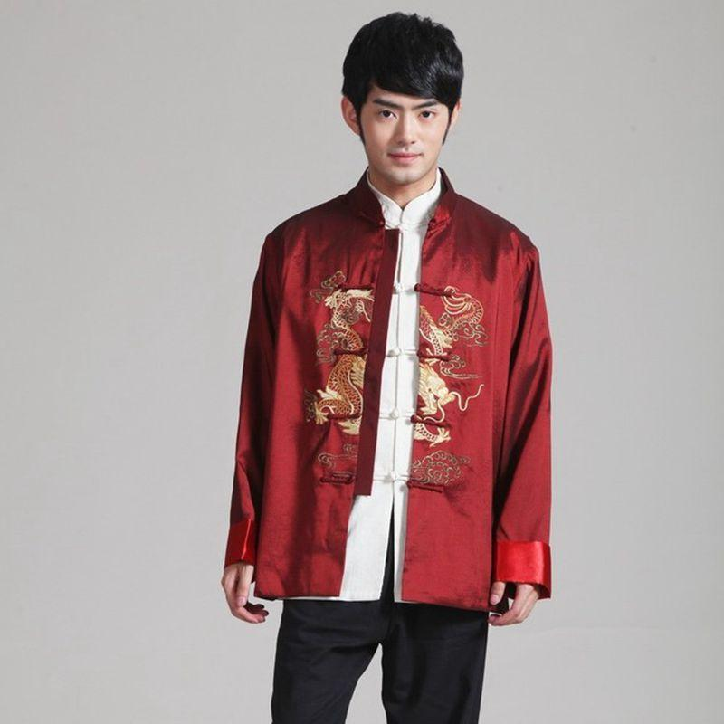 3d493357b 2019 Traditional Chinese Clothing Men Quinquagenarian Costume Man Autumn  Winter Male Jacket Embroidery Nation Cheongsam Top From Duanhu, $42.99 |  DHgate.Com