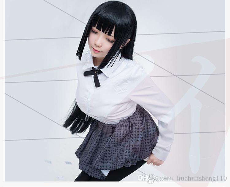 Nouveau Anime Kakegurui Yumeko Jabami Halloween Costumes Cosplay Japonais École Filles Uniforme Ensemble Complet Veste + Chemise + Jupe + Bas + Cravate