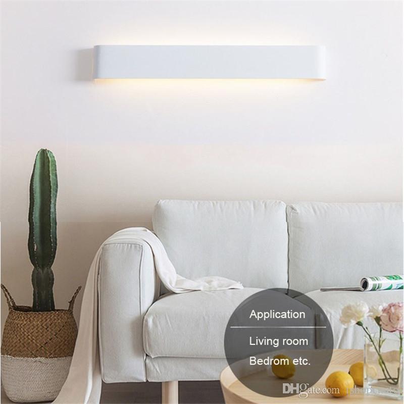 Modern minimalist LED aluminum wall lamp bedside lamp living room bedroom aisle creative wall lamp bathroom mirror headlights