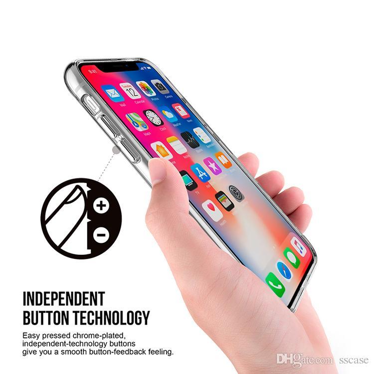 Heißer verkaufender Großhandelsfabrikpreis Crystal Clear Transparent-Telefon-Kästen für iphone x Fall für Samsung Xiaomi