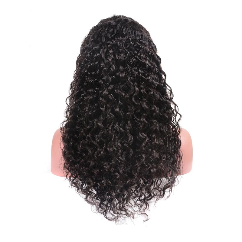 Peruvian Hair Wigs Remy Human Hair Full Lace Wigs Natural Color Gluless Lace Kinky Curly Wigs for Black Women 150%Density
