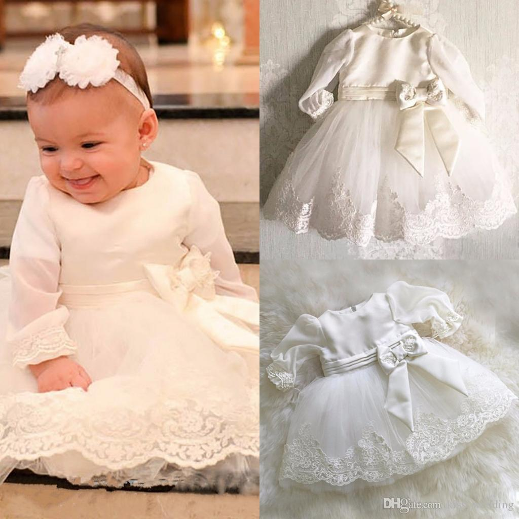 Adorable Prom Ball Gown Baby Kids Christening Gown Floor Length Lace  Baptism Girls Dress With Blow Toddler Pageant Dresses Custom Made Boys  Christening Buy ... 744c4a8e1668