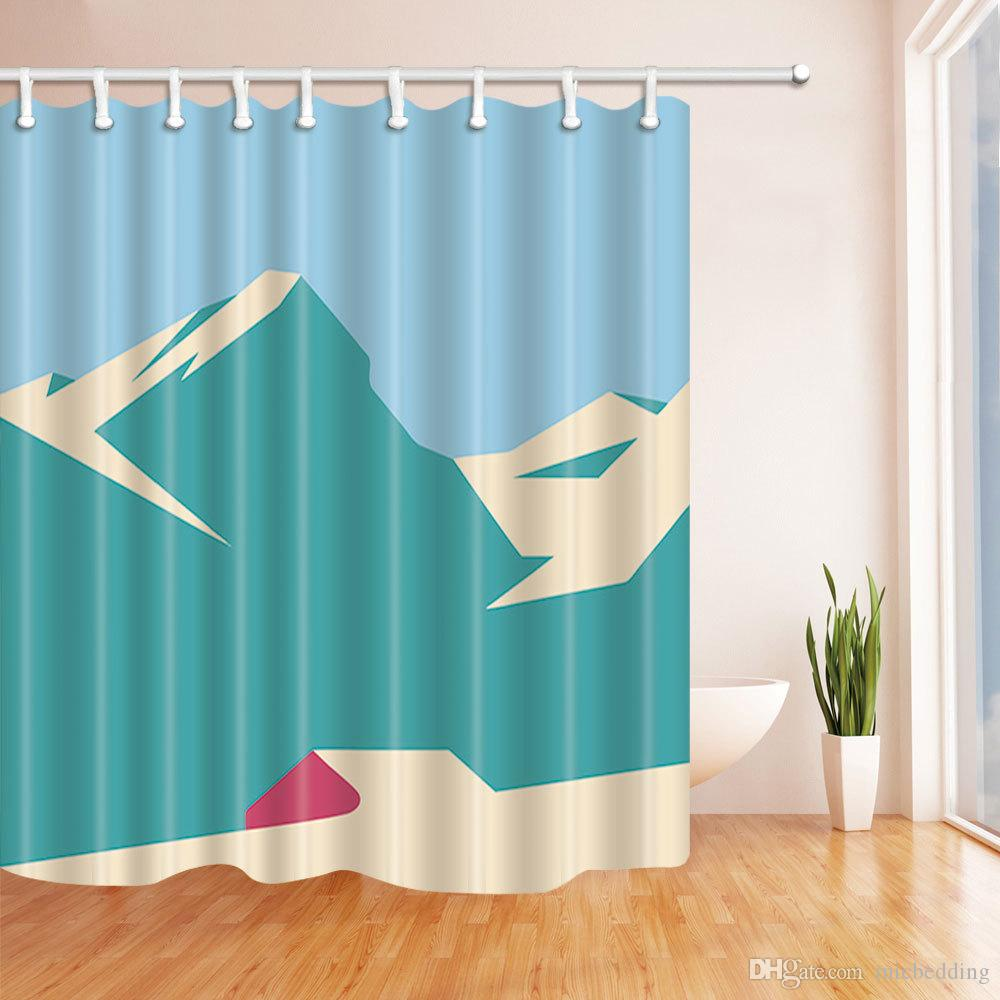 Catoon Design Pattern Waterproof Creative Shower Curtain Digital