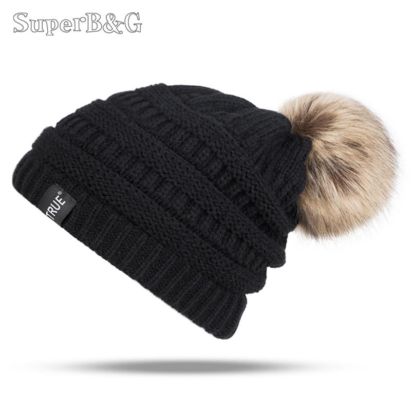 b000c36755168 SuperB G New Fashion Winter Hat Warm Skullies Beanies Women Men ...