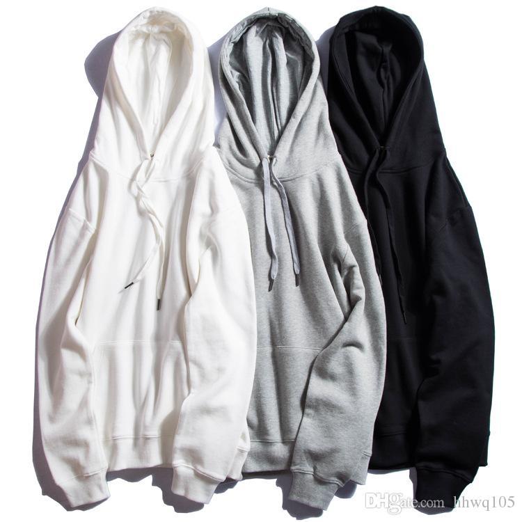 Hoodies & Sweatshirts Men Women Ladies Fashion Hooded Sweatshirt Plain Design Sweatshirts Loose Overcoat Hoodie Blank Pullover Top Tee