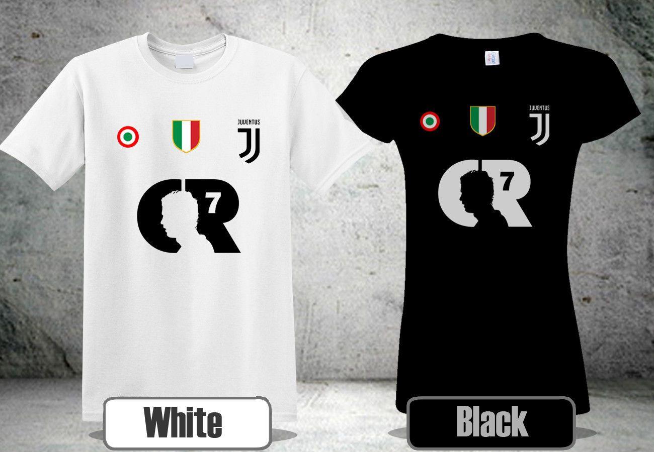 new concept 1780a 401f3 MAGLIETTA CR7 JUVE T-Shirt Black&White Colour Tee Shirt 2 Cool Casual pride  t shirt men Unisex New Fashion