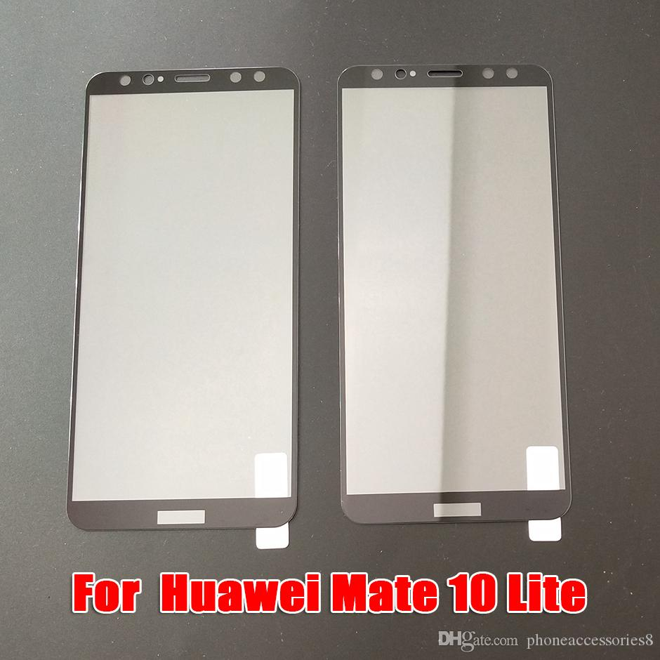 For Huawei P9 P9PLUS Mate 10 PRO Mate10 Lite Mate 9 PRO Full Cover Tempered Glass Phone Screen Protector Film DHL