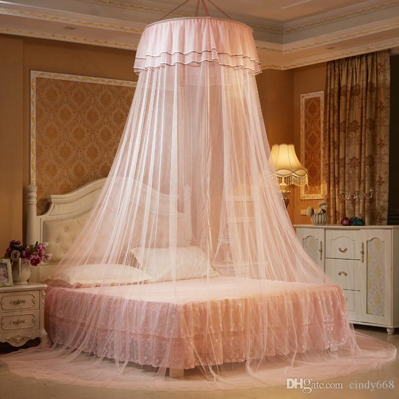 Kid Baby Bed Canopy Bedcover Mosquito Crib Netting Curtain Bedding Round Dome Tent Cotton Harmonious Colors Baby Bedding