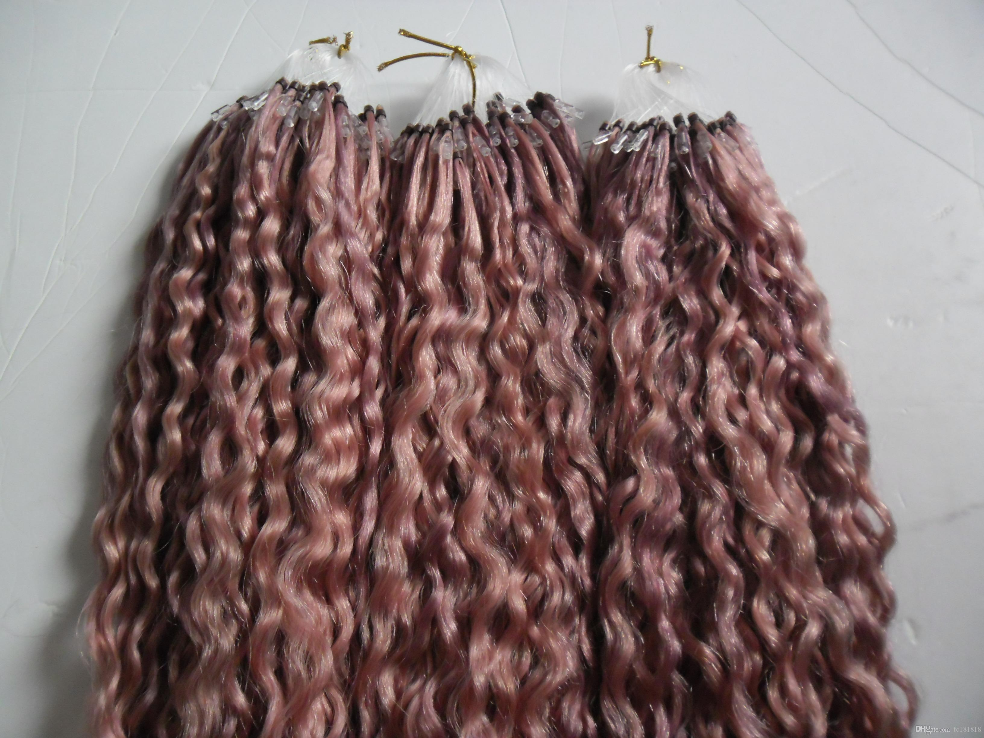 Brazilian Micro Loop Ring Hair Extension Remy Colored Hair Locks 10