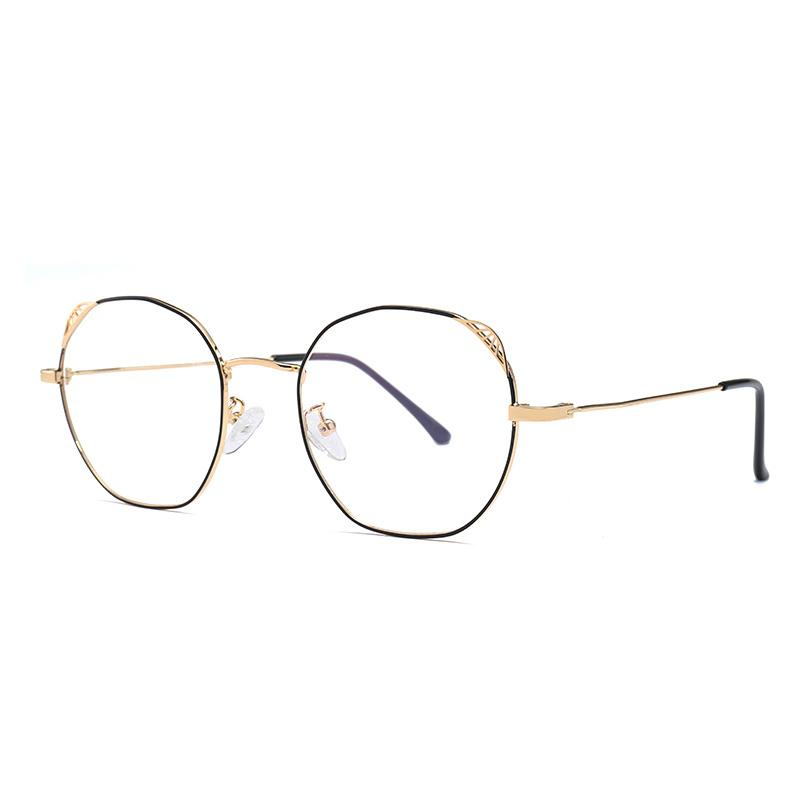 3eda2608797 Phoemix Women Round Plain Sunglasses Vintage Black Pink Frame Clear ...