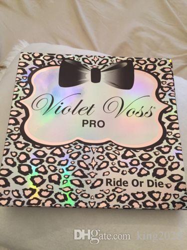 재고 있음 및 무료 배송! VIOLET VOSS 프로 라이드 또는 다이 아이 섀도우 팔레트 한정판 42 색.