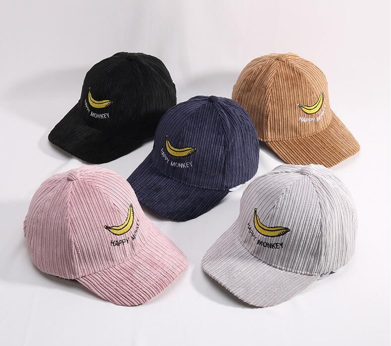 Children Winter Baseball Cap Embroidery Banana Snapback Hip Hop Cap Boys  Girls Warm Hats Gorras Dad Hat Casquette Gorras Bone Lids Hats Visors From  ... 472458d0fc9