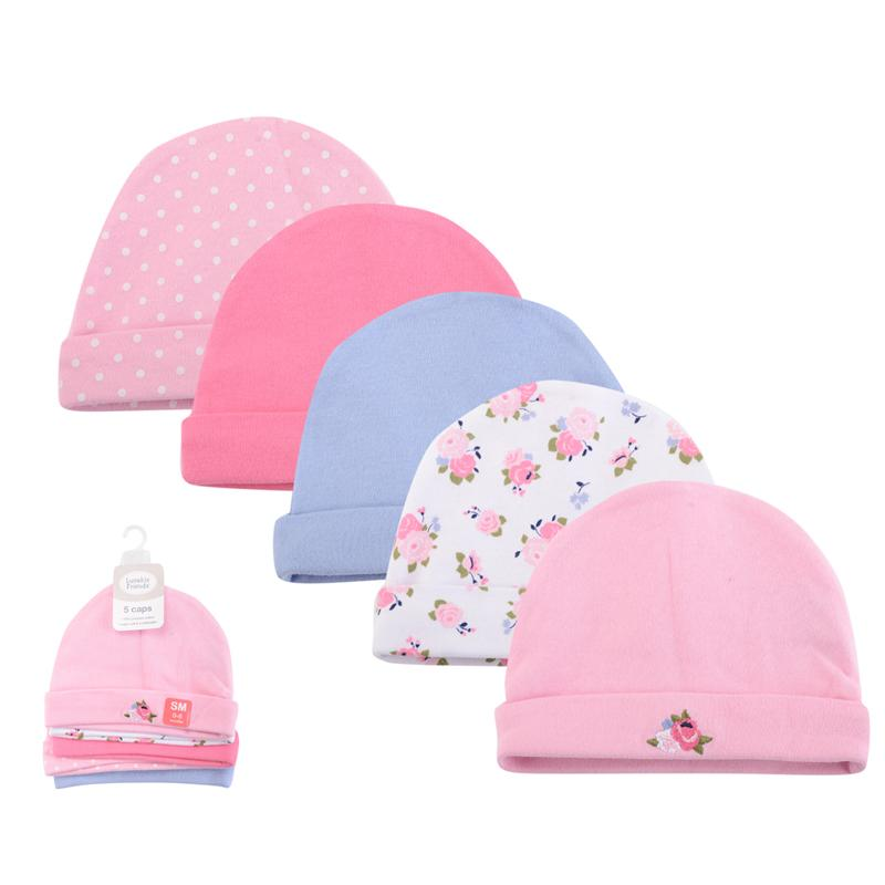 77cdb53cce2 2019  Baby Caps For Boys Girls Newborn Boy Hats 5 Pack 0 6 M Baby  Accessories Fashion Baby Hat Cute Babys Cap From Yuan0907