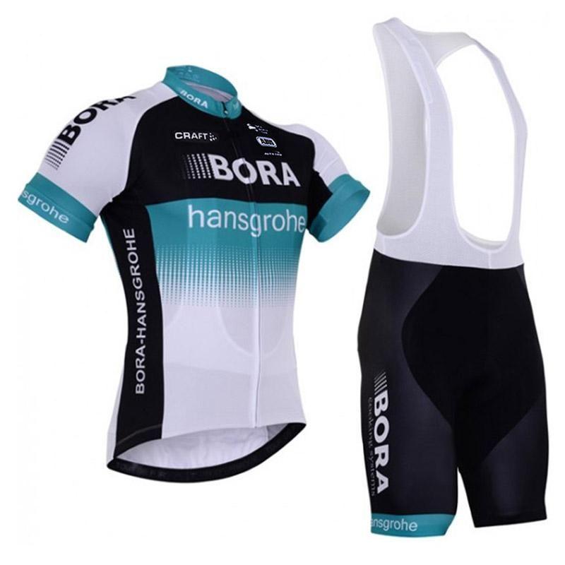a60b4f862 Satın Al 2018 BORA Takım Bisiklet Kısa Kollu Jersey Bib Şort Setleri  Erkekler Yaz MTB Bisiklet Açık Spor Bisiklet Yarış Ropa Ciclismo K91208