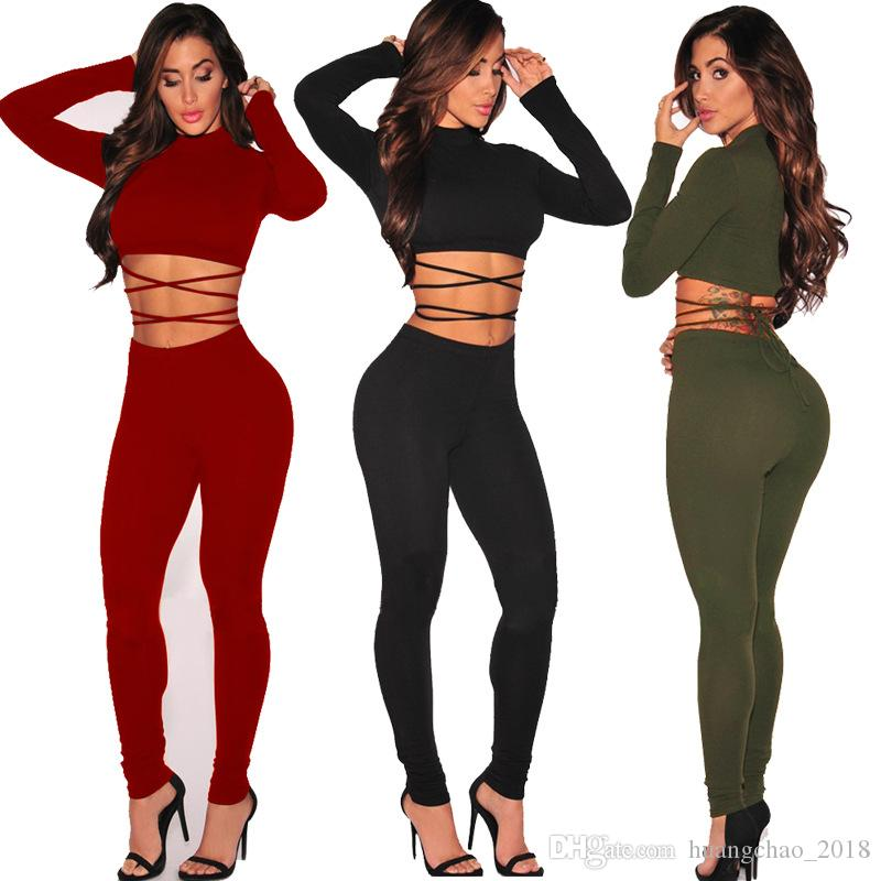 b41e93e4385 2019 Rompers Womens Jumpsuit Sexy Jumpsuits For Women Black Jumpsuit  Overalls For Women Bodysuit Two Piece Long Sleeve Women Clothing From  Huangchao 2018