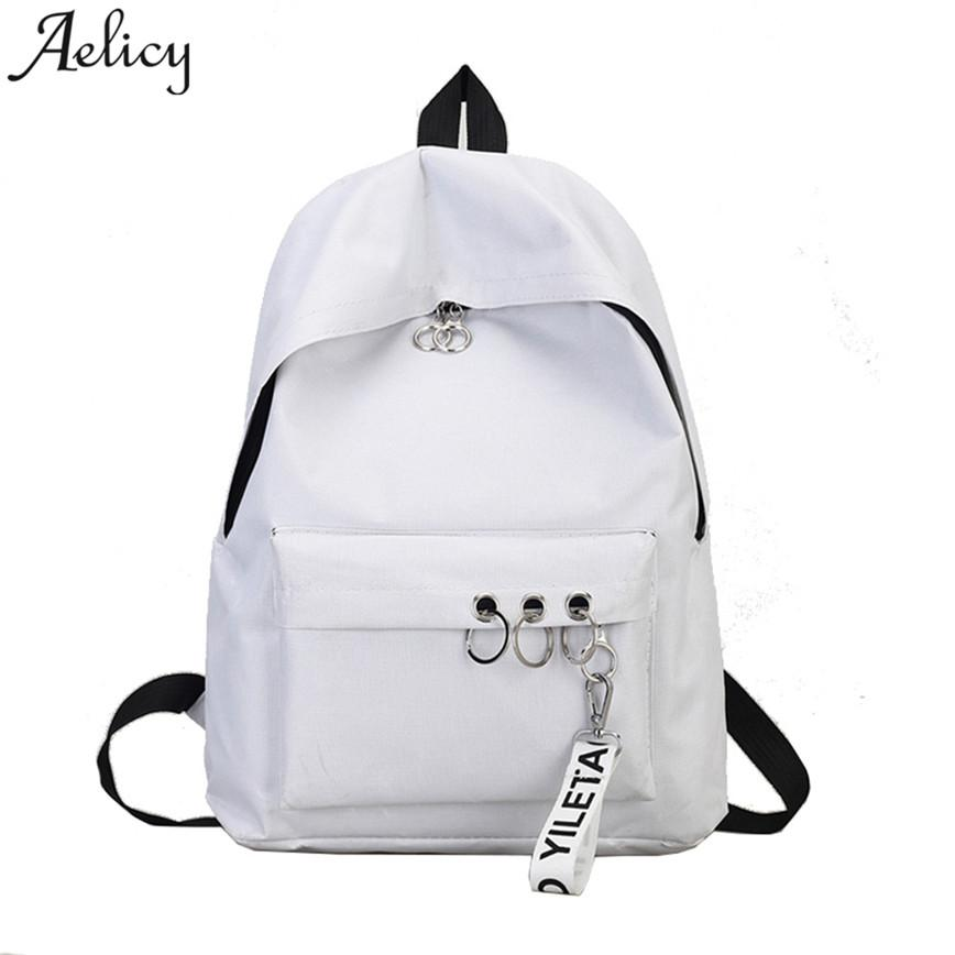 Aelicy 2018 Fashion Women s N Ring Shoulder Bookbags Satchel Travel ... a8ddd189b5f6e