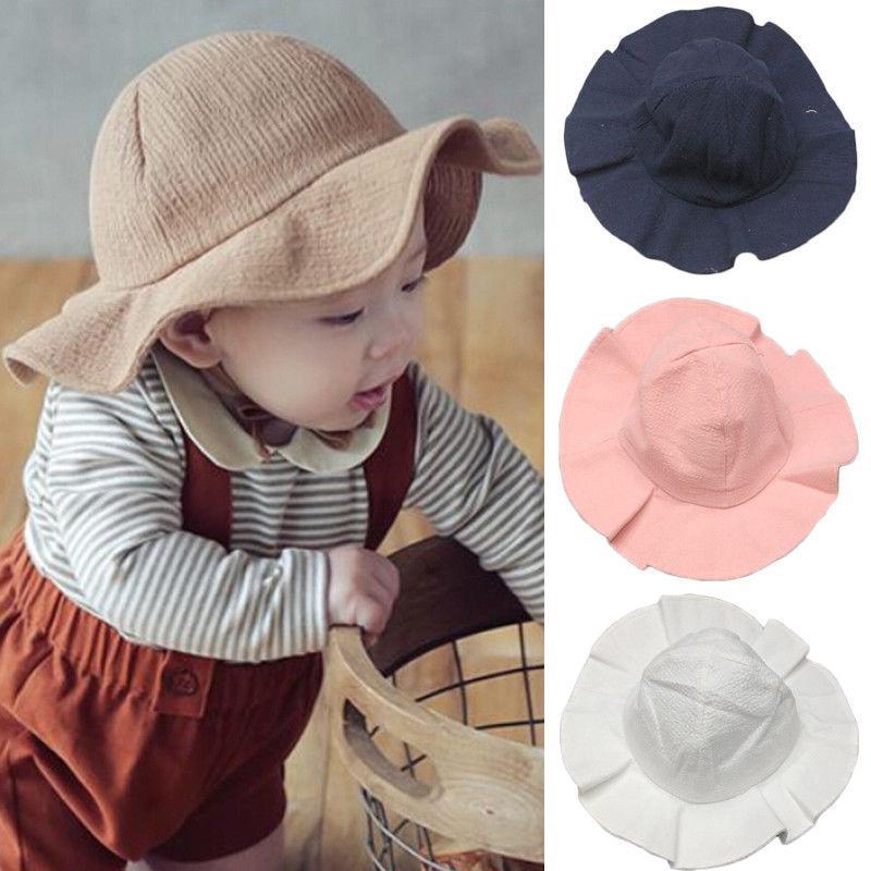 6d03fd212a6 Emmababy 2019 Toddler Infant Kids Sun Cap Summer Outdoor Baby Girls Boys Sun  Beach Cotton Hat UK 2019 From Beasy
