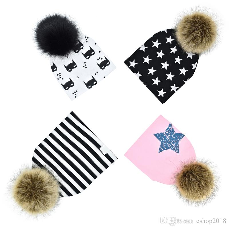 0e2ad30cc9f Hot Sale Winter Boys And Girls Caps Baby Faux Fur Baby Beanies ...