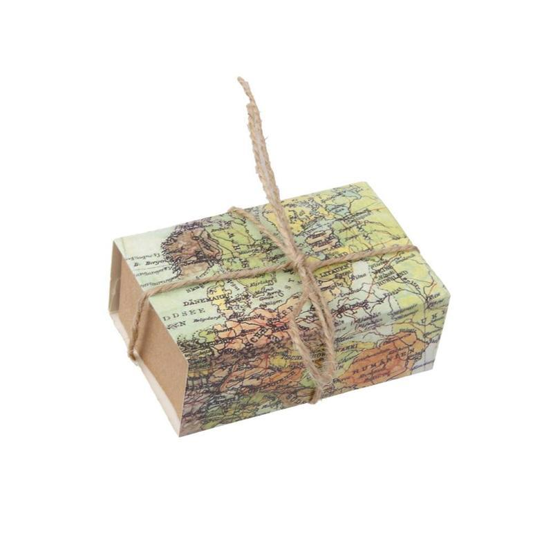 World Map Gift Bags.Pack World Map Kraft Paper Bags Wedding Party Gift Bag Candy Cookie