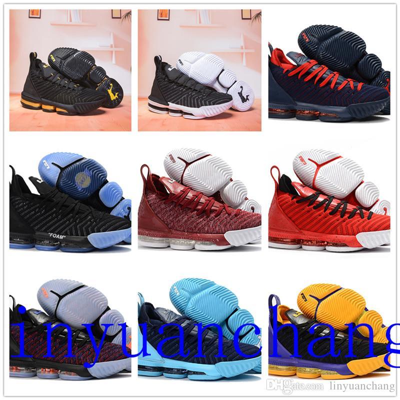 new product a3a3e 6cacf Großhandel Mit Box 2018 Neue Top Lebron 16 Handgemachte Schuhe James 16 Lbj  16 Handgemachte Schuhe Lebron Schuhe Größe Us7 Us12 Von Linyuanchang, ...