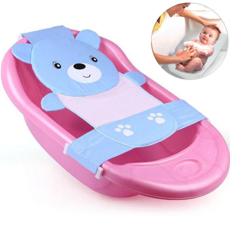 2018 Baby Infant Bear T Shaped Slippery Bath Bed Net Antis Kid ...