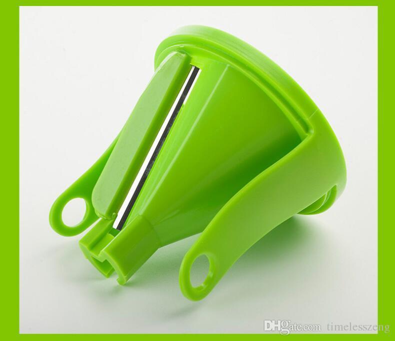 Pratik mutfak İşlevli döner rende huni sebze rende kesme filament havuç salatalık kesici 3 desen güzel aracı ücretsiz gemi