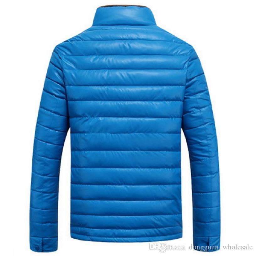 Nueva chaqueta de los hombres del invierno al aire libre del collar del soporte de los hombres OverCoat Moda masculina Warm Wea Slim Fit Windbreaker Mens prendas de abrigo Parkas