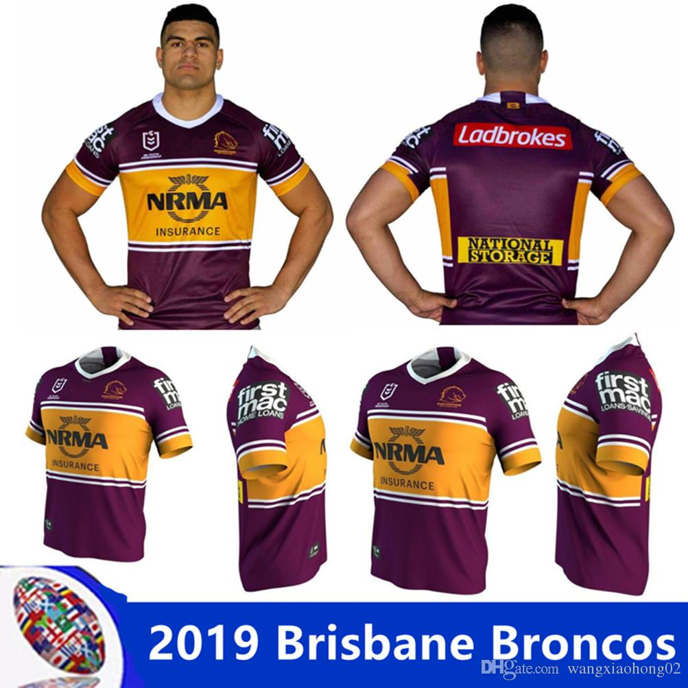 09a5dc04122 2019 BRISBANE BRONCOS 2018 INDIGENOUS JERSEY NRL National Rugby League 2019 Brisbane  Broncos Home Jersey Rugby Shirts Size S 3XL From Wangxiaohong02