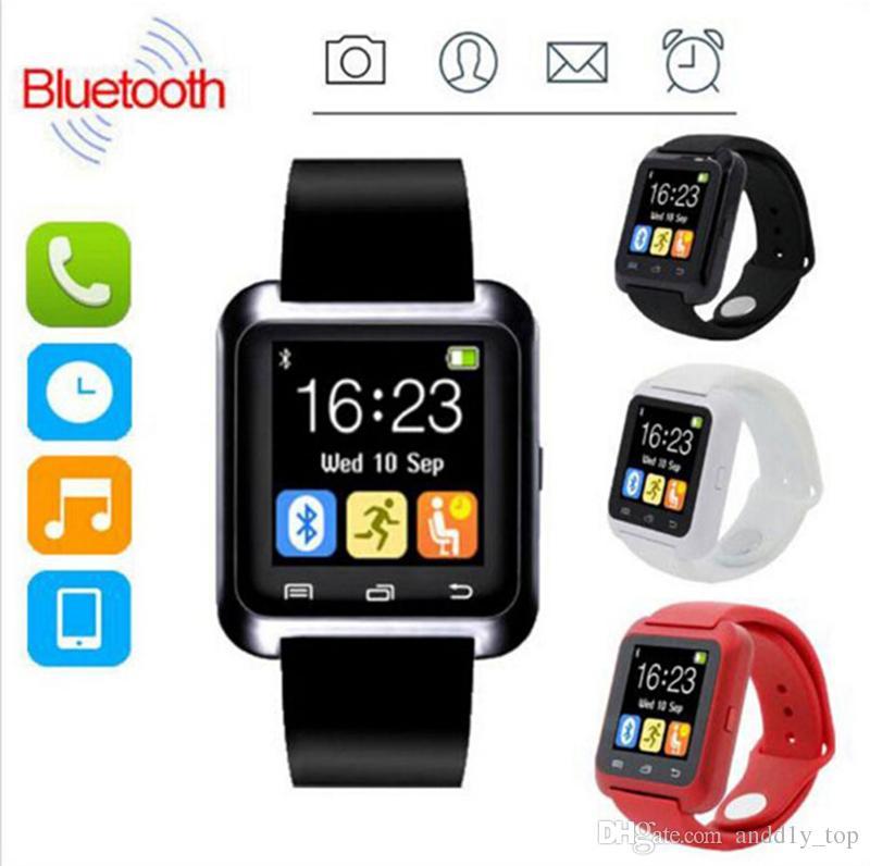 2018 Bluetooth Smartwatch U8 U İzle Akıllı İzle Bilek Saatler iPhone 4 4 S 5 5 S Samsung s7 HTC Android Telefon Smartphone