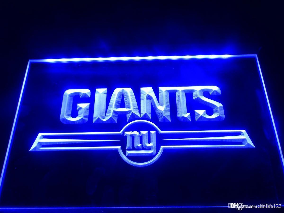 Ld051b York Giants Bar Logo Neon Light Signs Addressable