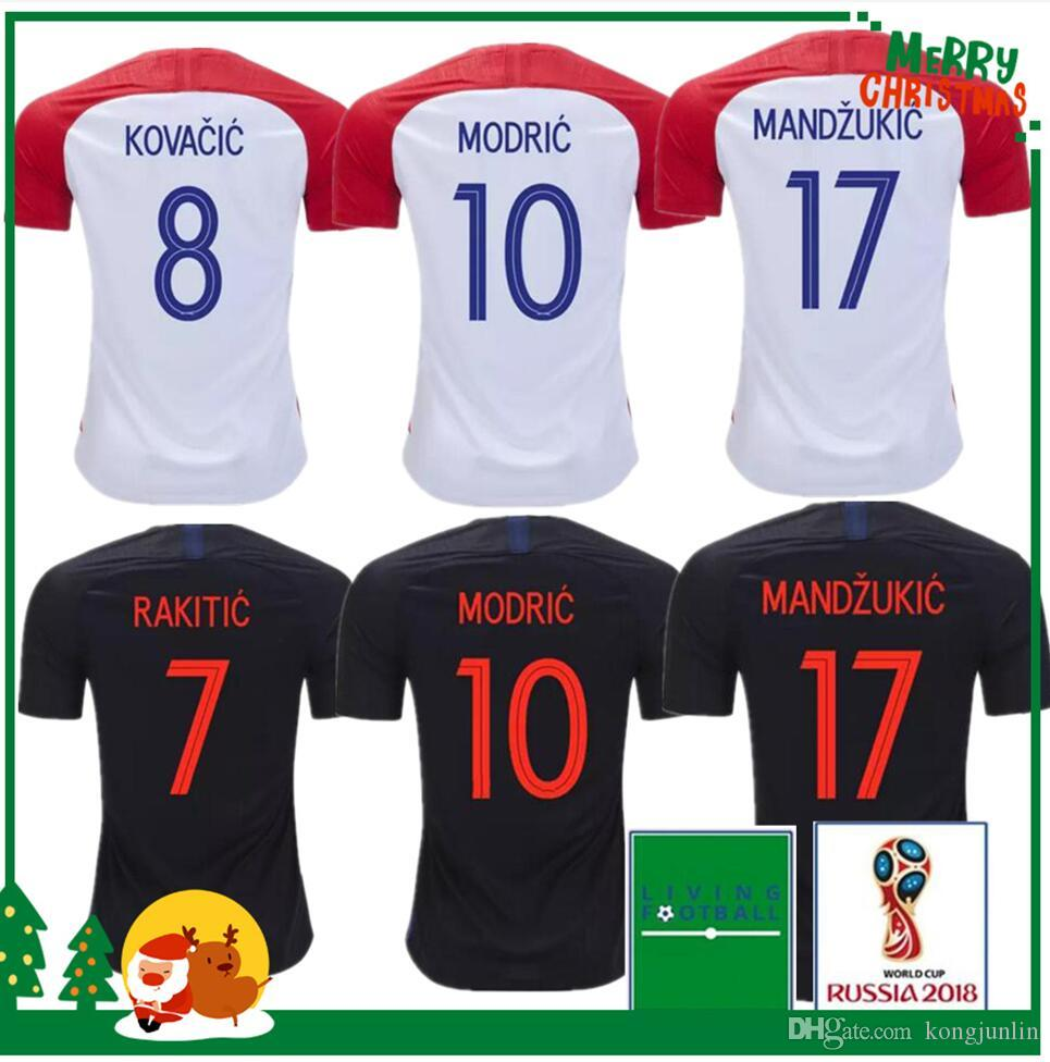 2019 2018 2019 MODRIC Home Away Soccer Jersey SRNA PERISIC RAKITIC  MANDZUKIC SRNA KOVACIC Red KALINIC Hrvatska Football Shirt From Kongjunlin d9babdbd9