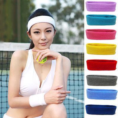 68043bce035c 2019 Cotton Hair Bands Womens Men Sport Sweat Sweatband Headband ...