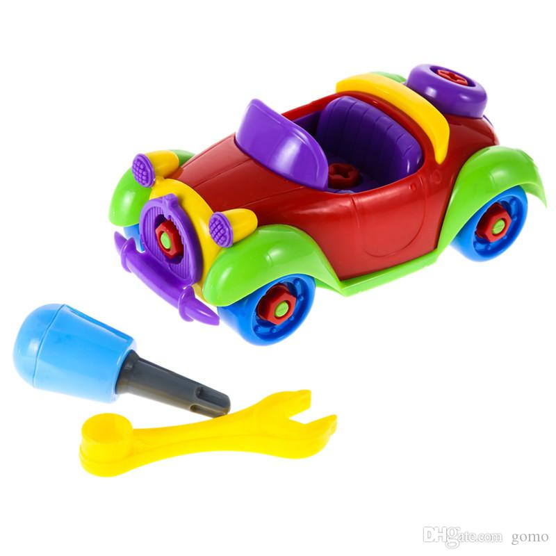 Baby Toy Car Multi-Color Funny Baby ABS Plastic Car Airplane Puzzle Toy Assembly Early Educational Toy Niños Regalo de los niños