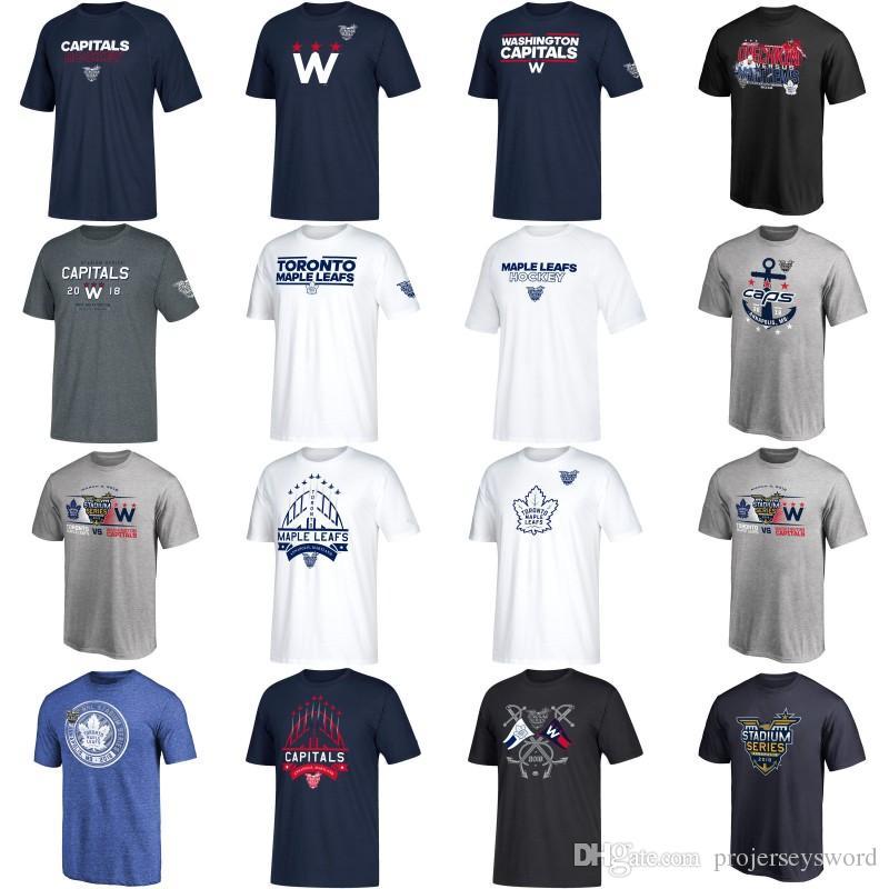 super popular 6923f 4c667 2018 Stadium Series Team Logo T-Shirt Toronto Maple Leafs Auston Matthews  Washington Capitals Alexander Ovechkin Custom Any Name & Number