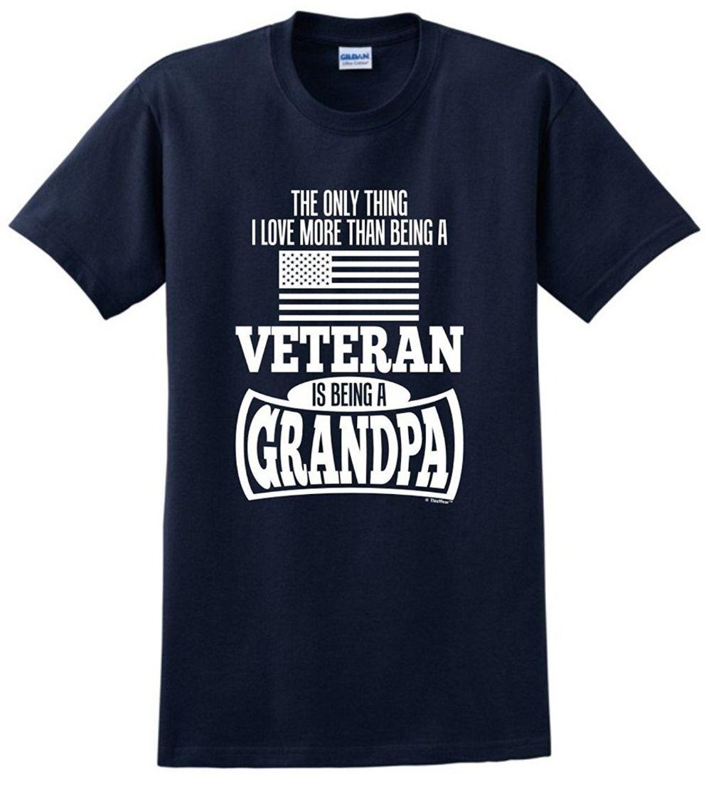 Compre Hombres Moda Abuelo Regalo Veterano Militar Sólo Cosa Amor Más  Camiseta Novedades Ropa Casual A  10.52 Del Teefunny  0ec87a78ec8