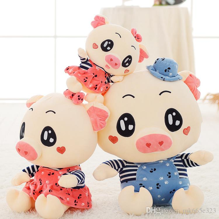 2019 Stuffed Plush Doll Toys Pigs 20cm Sow Boar Toy Couples