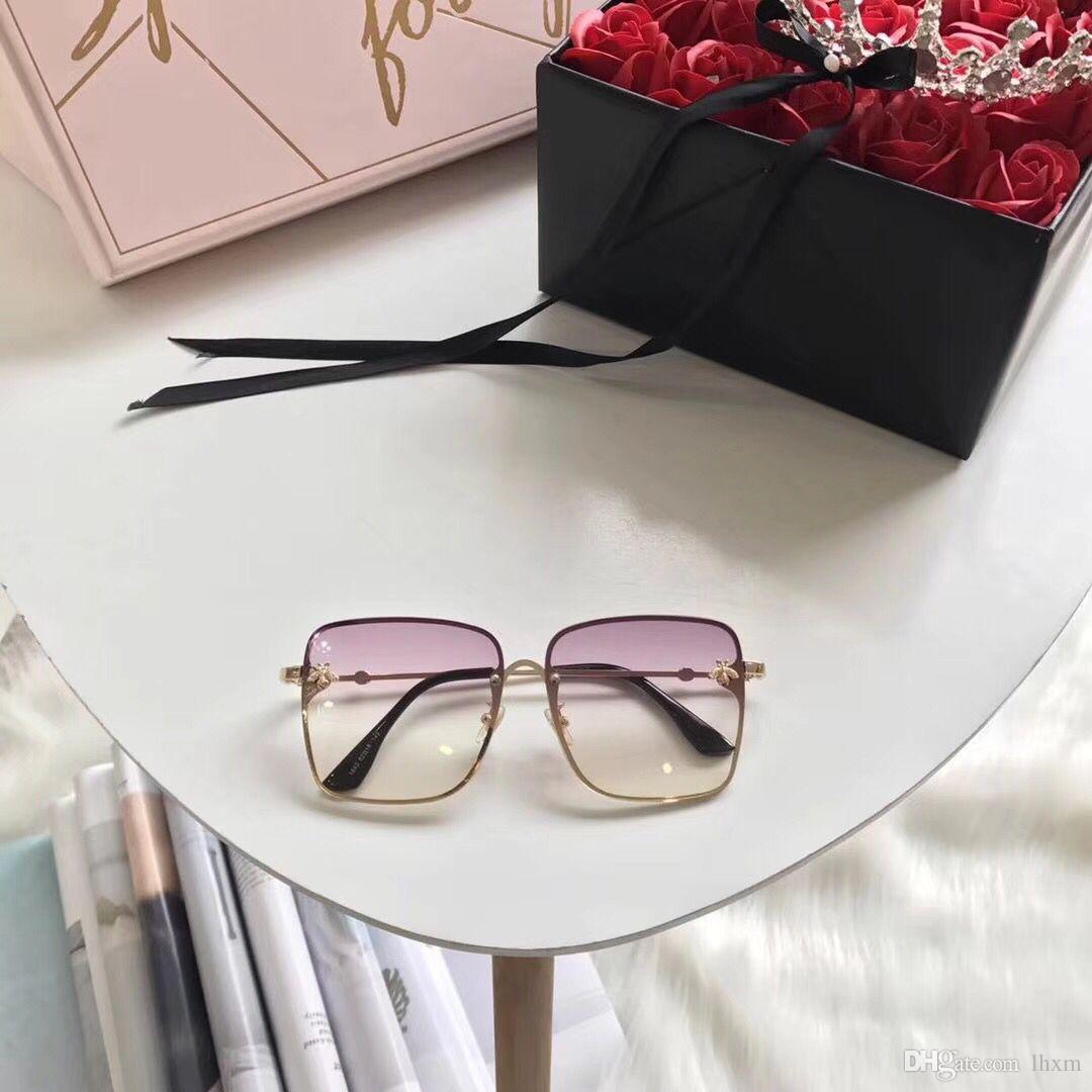 Abelhas óculos de sol de alta qualidade mulher óculos de sol speckle marca clássica designer praia férias óculos de sol uv400 óculos de sol