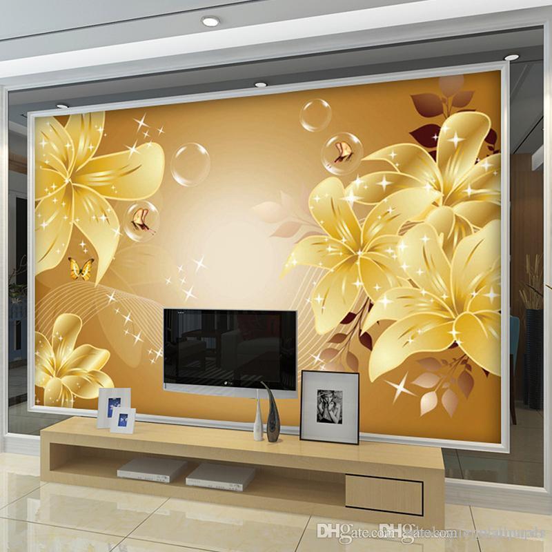 Großhandel Benutzerdefinierte Fototapete 3D Stereo Große Wandbilder ...