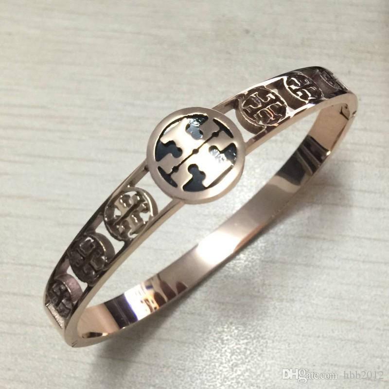 2018 TT sello de calidad superior de acero inoxidable 316L es chapado en oro diseño amor pulsera para mujer