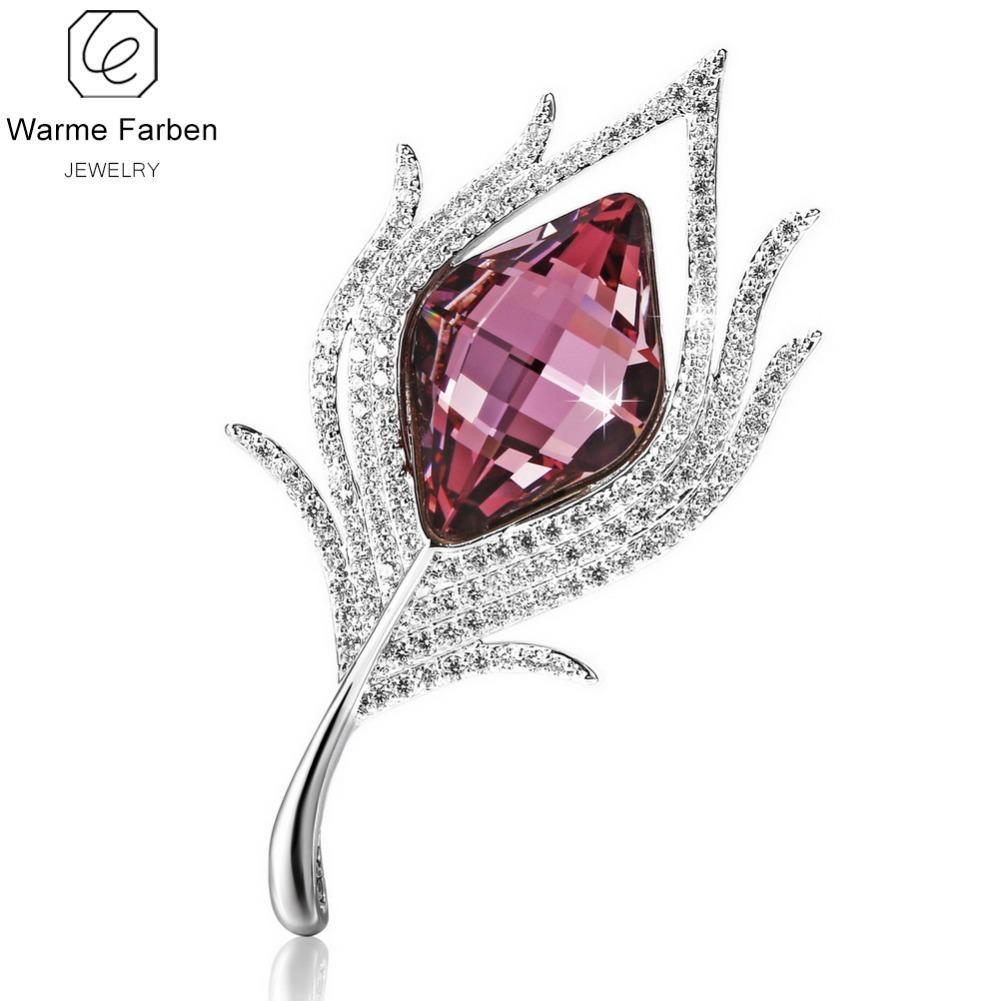 2019 Warme Farben Crystal From Swarovski Brooch For Women Inlaid Zircon  Flower Crystal Brooches Suit Scarves Pins Jewelry AccessoriesY1882803 From  ... eec9834da