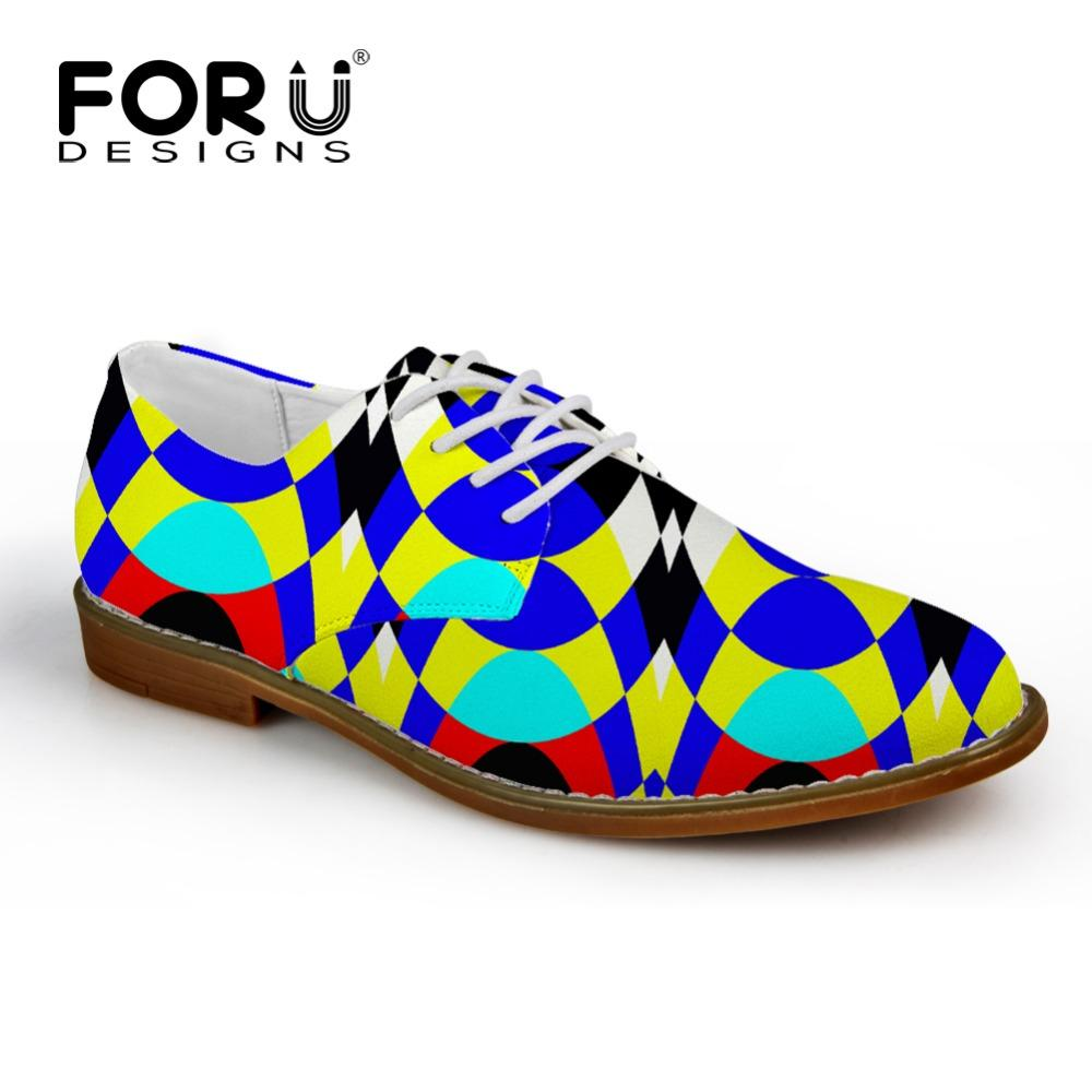 Herrenschuhe Forudesigns Frühling Männer Casual Synthetische Leder Schuh 3d Druck Männer Wohnungen Oxfords Schuhe Mode Marke Designer Männer Kleid Schuh