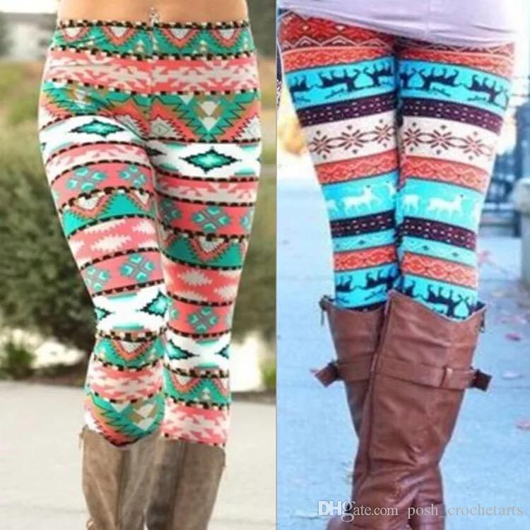 2018 plus sizes christmas leggings for mothers footless leggings snowflakes christmas tree printing casual stretchy pants legging plus size from