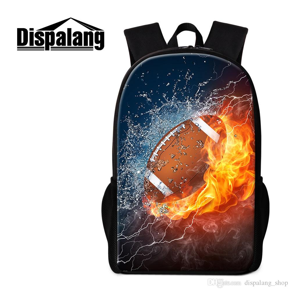 Fashionable Schoolbag for Teens Trendy 3D Football Pattern on ... e229e10976a5c