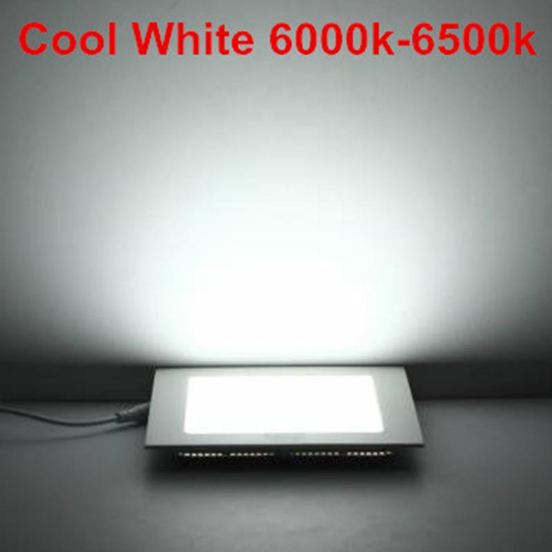La vente chaude Dimmable a mené le voyant de panneau carré de plafonnier 3w 4w 6w 9w 12w 15w 25w 25w de plafond enfoncé chaud / plafond blanc naturel / froid