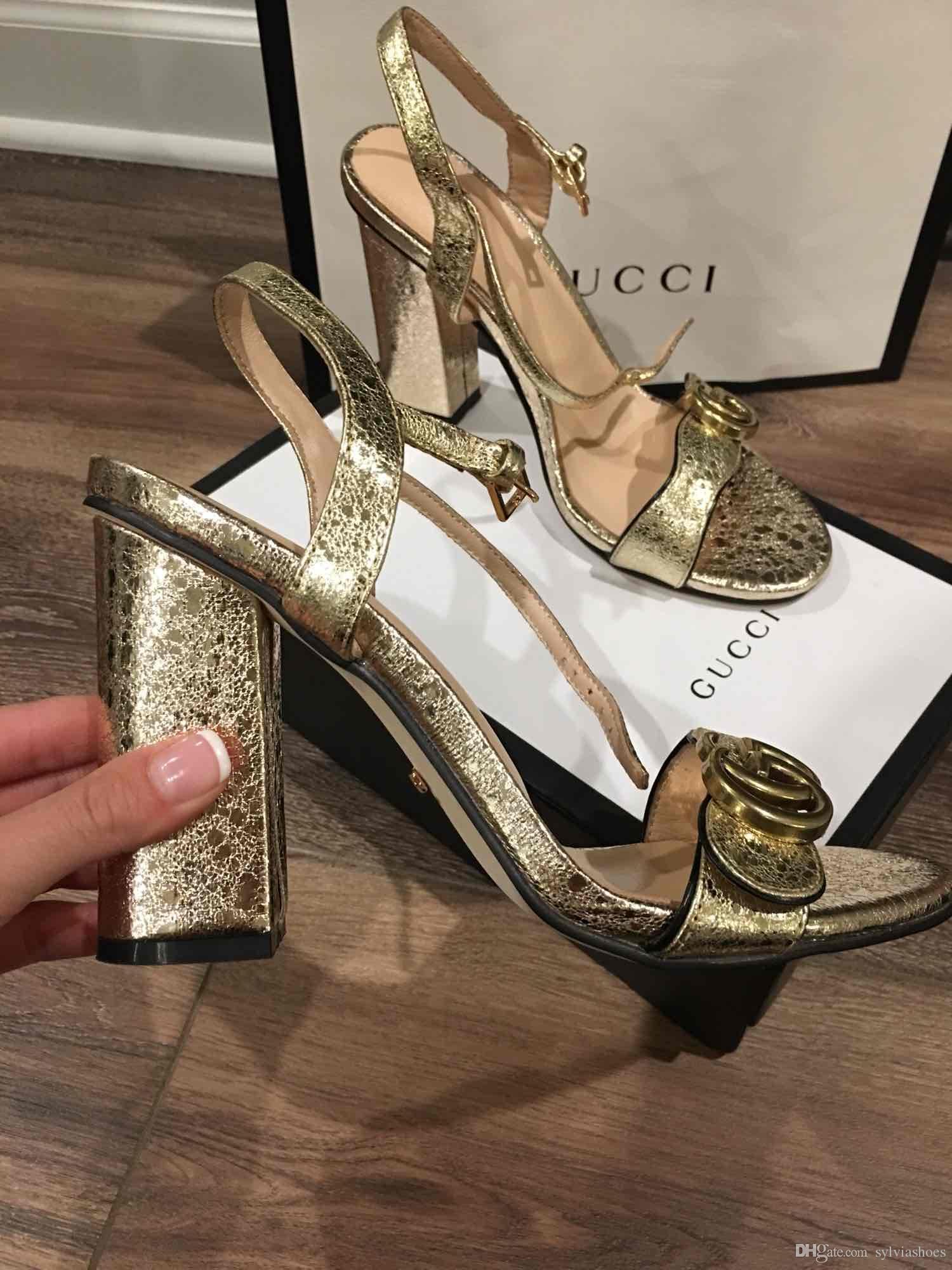 faff5cda8d29 Newest 2018 Luxury Brand Designer Women Sandals Slingback Leather Pumps Women  Shoes Sexy High Heels 10cm Shoes Plus Size34 41 White Wedges Cheap Shoes  For ...