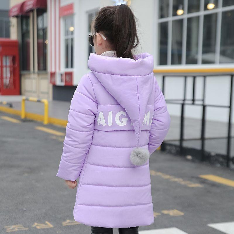 Kızlar çocuk wadded ceket giyim orta-uzun pamuk-yastıklı ceket kalınlaşma çocuk giyim kış sıcak kızlar ceket
