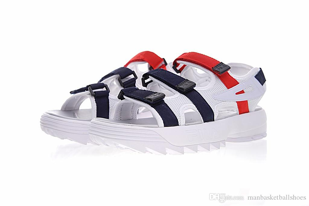 ec64ab184 Wholesale New Fashion Fila Men Women Sandals Black White Red Anti Slipping  Quick Drying Outdoor Slippers Soft Wear Shoes Beach Sandal Slides Neutral  Running ...